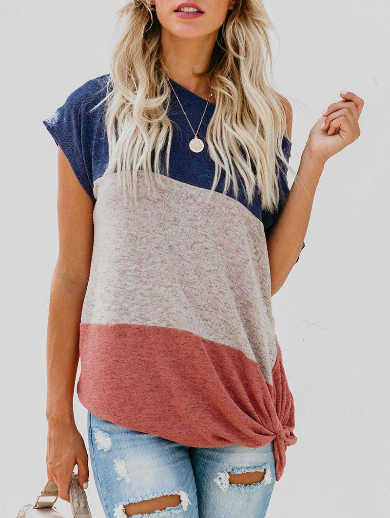 Latest Contrast Knot Front T-shirt