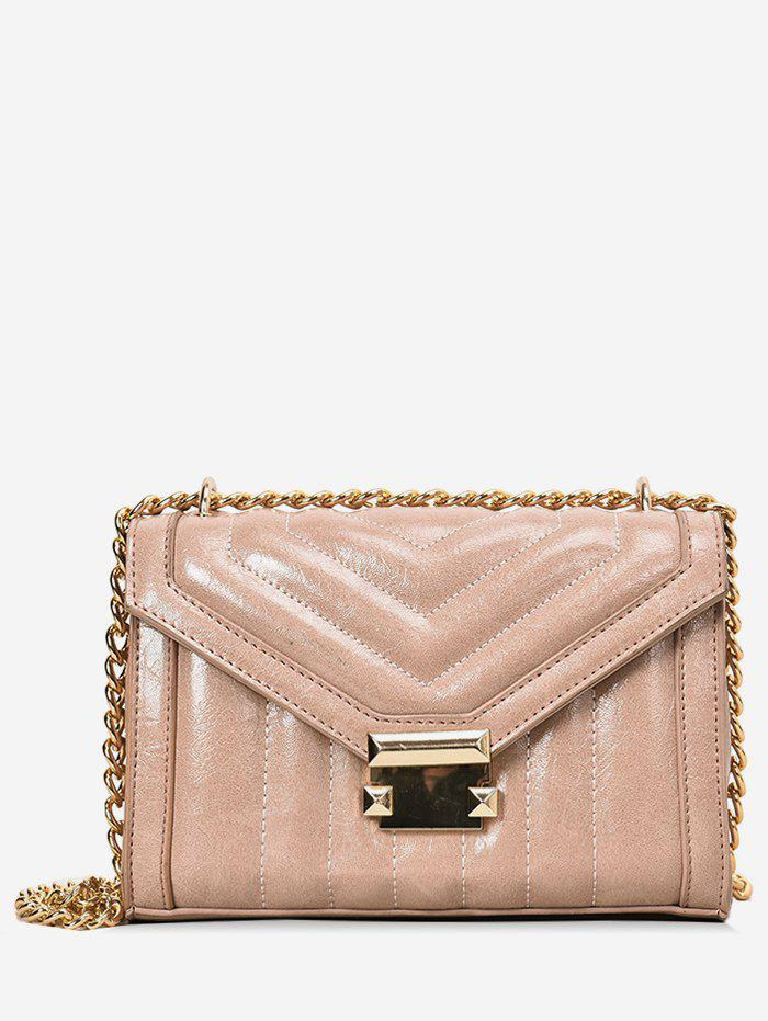 3c222613261f Unique Metal Hasp Chain Crossbody Quilted Bag