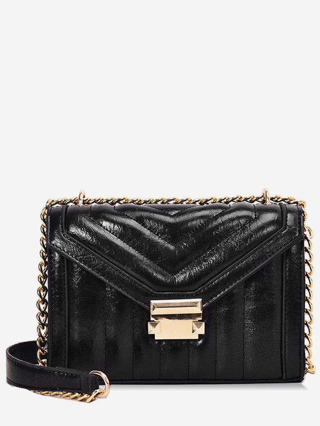 78282f3a9662 2019 Metal Hasp Chain Crossbody Quilted Bag