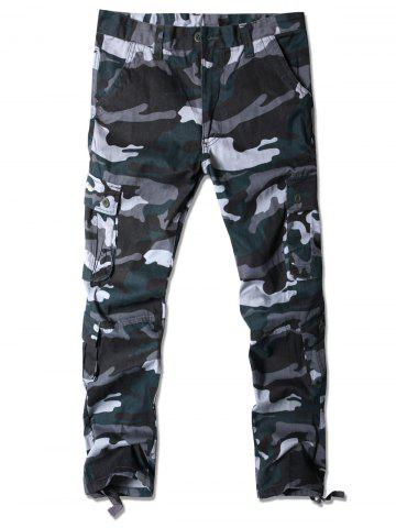 Camouflage Pattern Multi-pocket Cargo Pants
