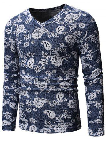 Floral Design Casual Long Sleeves Sweater