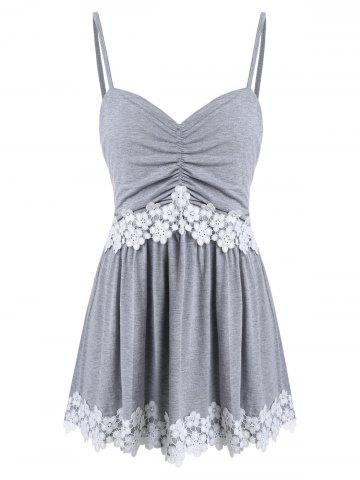 Plus Size Lace Insert Cami Tank Top