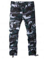 Camouflage Pattern Multi-pocket Cargo Pants -