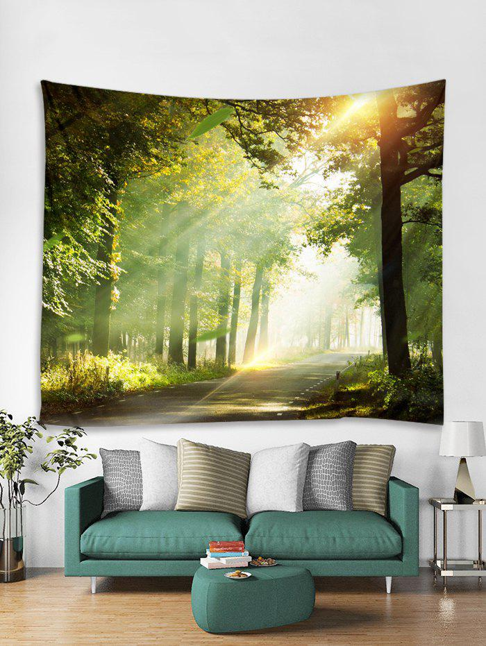 Square 3D Printed Forest Pattern Wall Tapestry