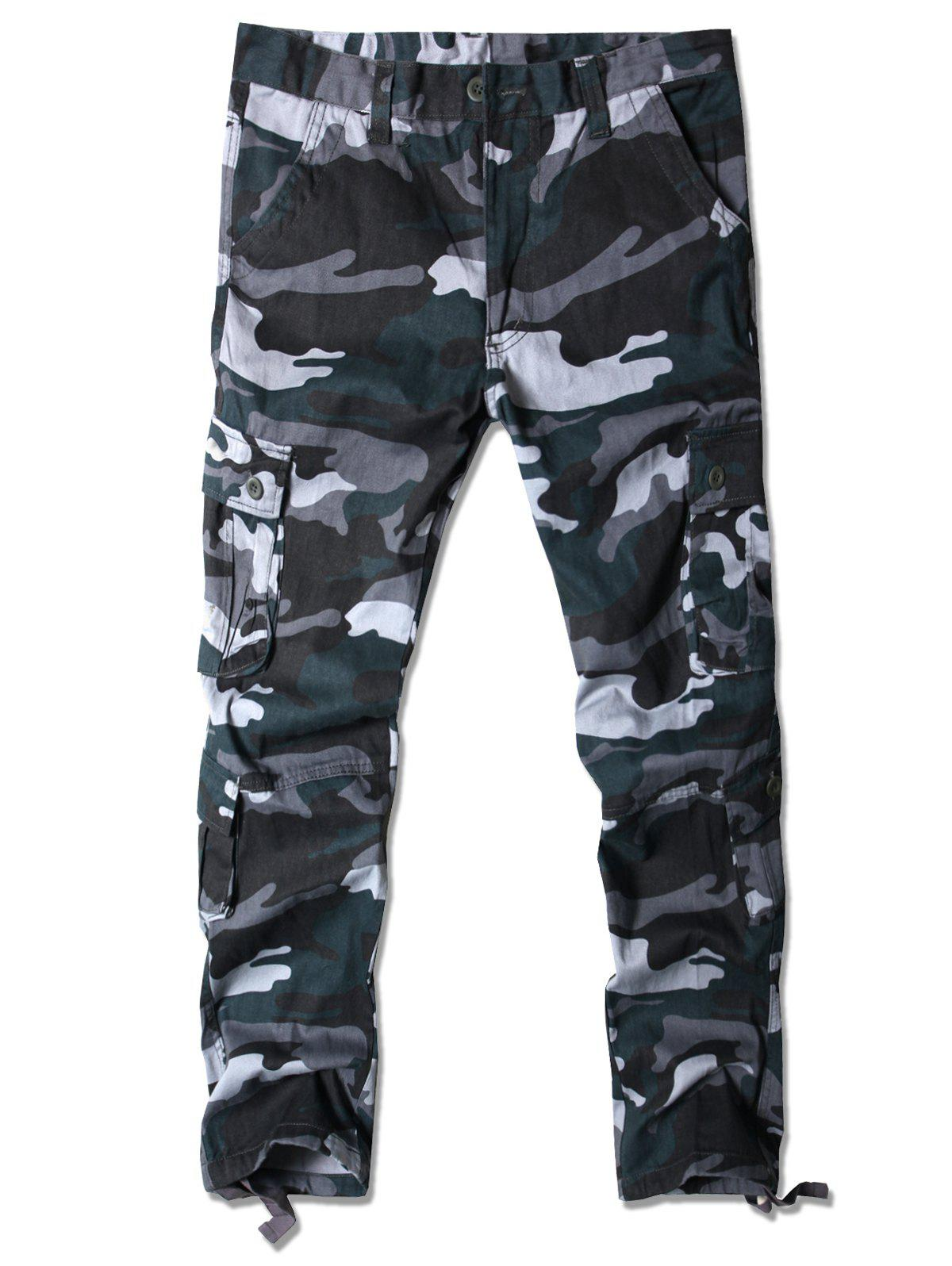 Outfits Camouflage Pattern Multi-pocket Cargo Pants