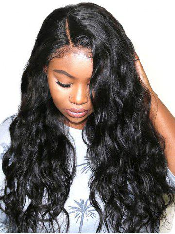 Long Side Parting Water Wave Lace Front Synthetic Wig