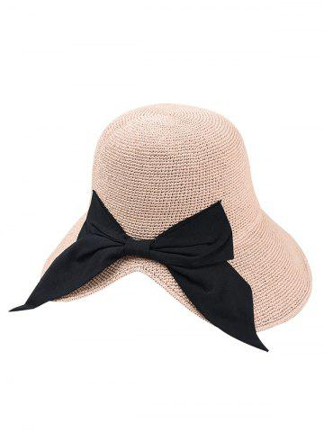Bowknot Embellished Bowler Straw Hat 1b50fb02959