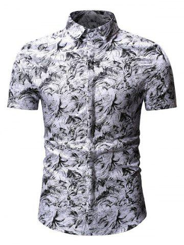 Floral Design Button Up Casual Shirt