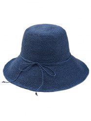 Bowknot Embellished Beach Straw Hat -