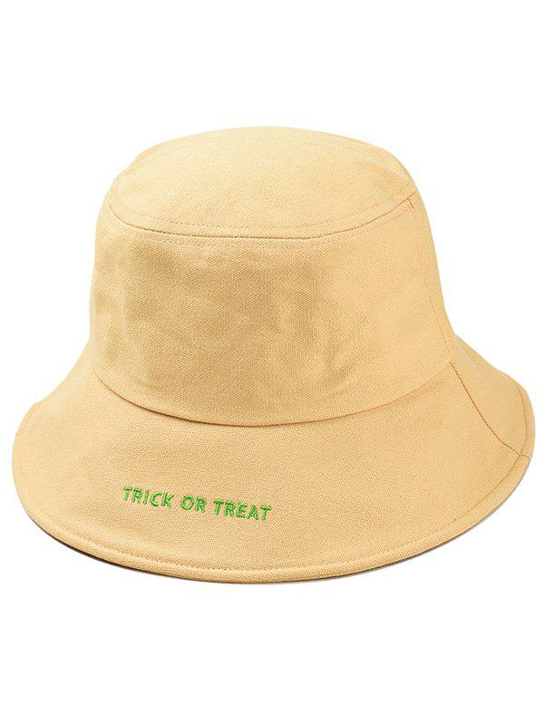 Store Halloween Letter Embroidery Bucket Hat