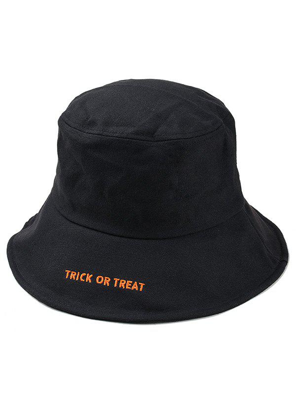 Chic Halloween Letter Embroidery Bucket Hat