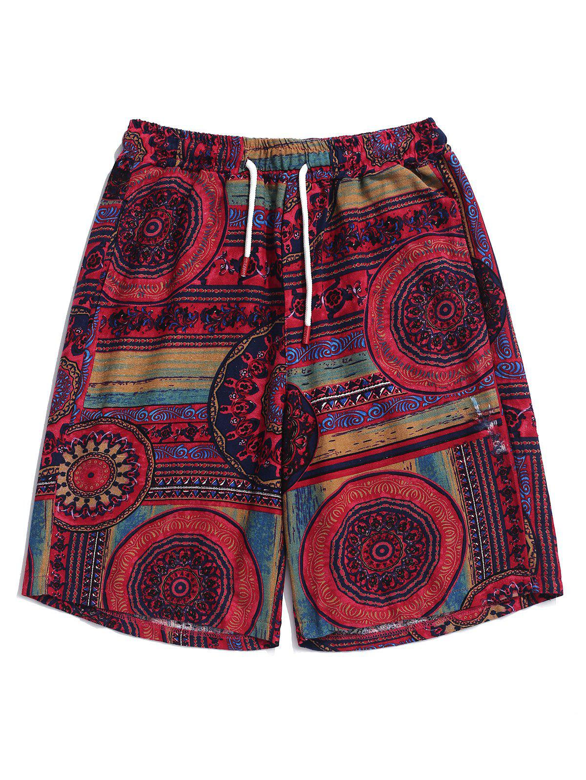 Outfits Flower Tribal Print Casual Shorts