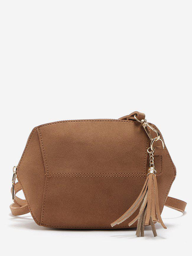 5bfbed20c0 28% OFF] Tassel Suede Crossbody Bag | Rosegal