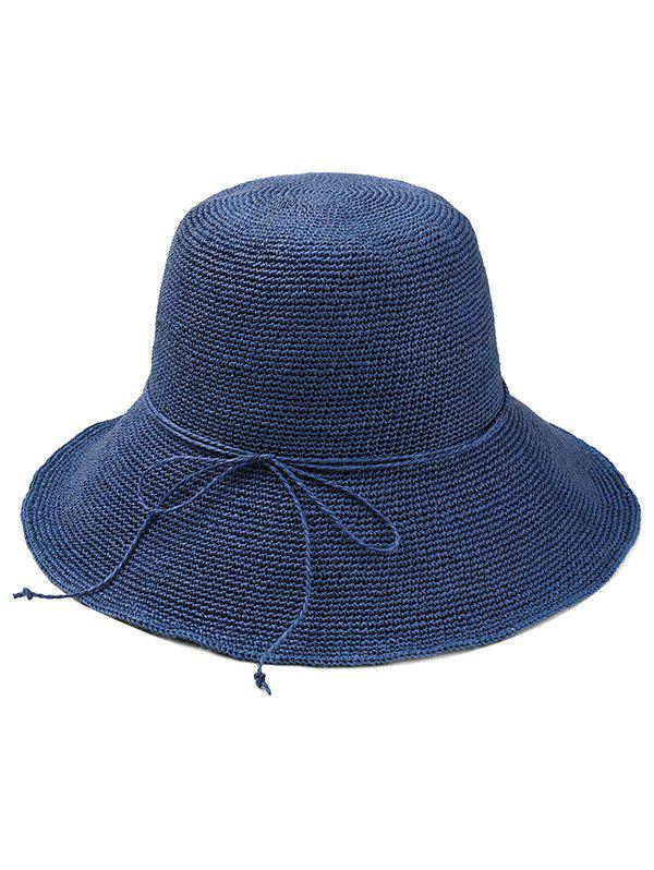 Hot Bowknot Embellished Beach Straw Hat