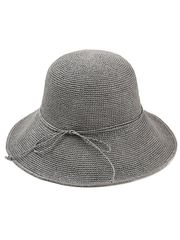 Shops Bowknot Embellished Beach Straw Hat