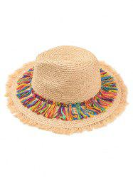 Tassel Adjustable Straw Panama Hat -