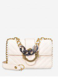 Chain PU Quilted Shoulder Bag -