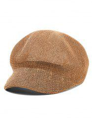 Solid Color Newsboy Straw Cap -