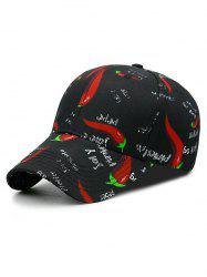 Pepper and Letters Print Baseball Hat -