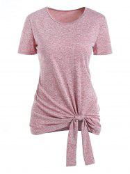 Space Dye Knotted Short Sleeve Tee -