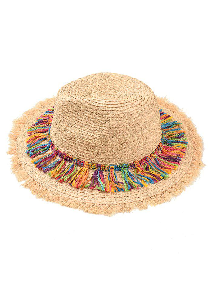 Discount Tassel Adjustable Straw Panama Hat