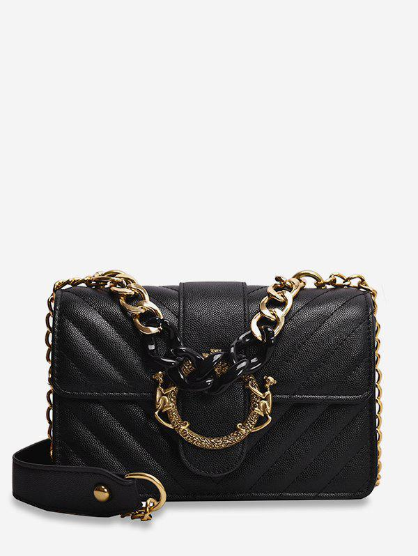 Discount Chain PU Quilted Shoulder Bag