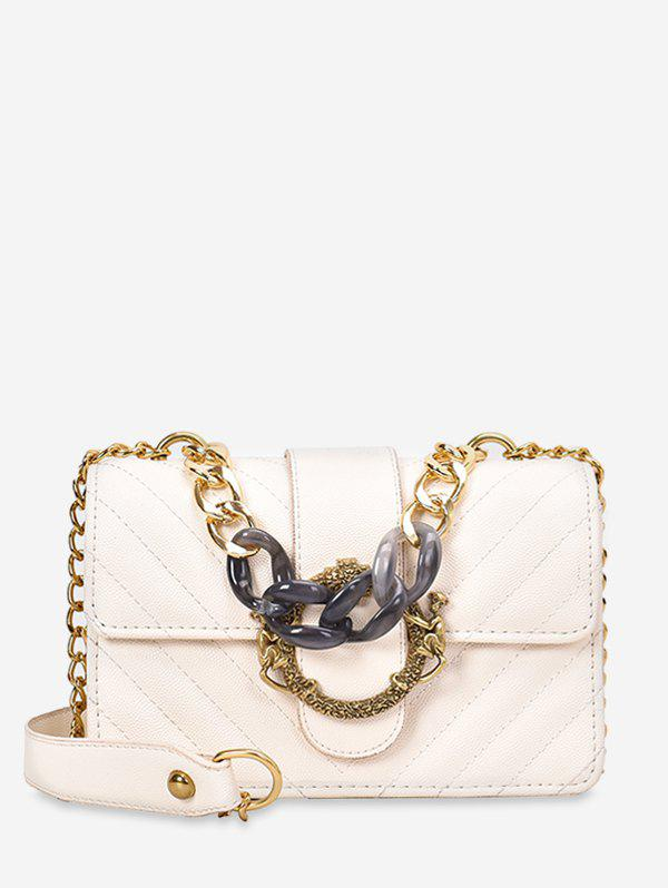 Fancy Chain PU Quilted Shoulder Bag