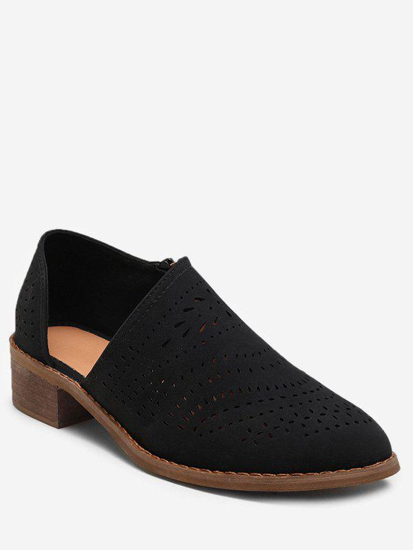 Discount Hollow Out Cut Suede Shoes