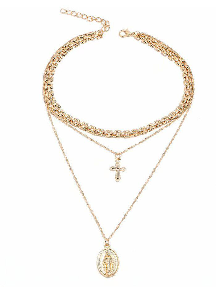 Shops Cross Tiered Pendant Necklace