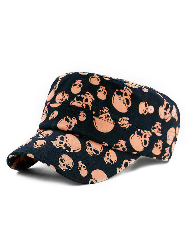 Outfit Adjustable Skull Print Military Hat