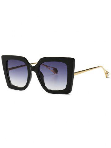 Decor Faux Pearl Square Sunglasses