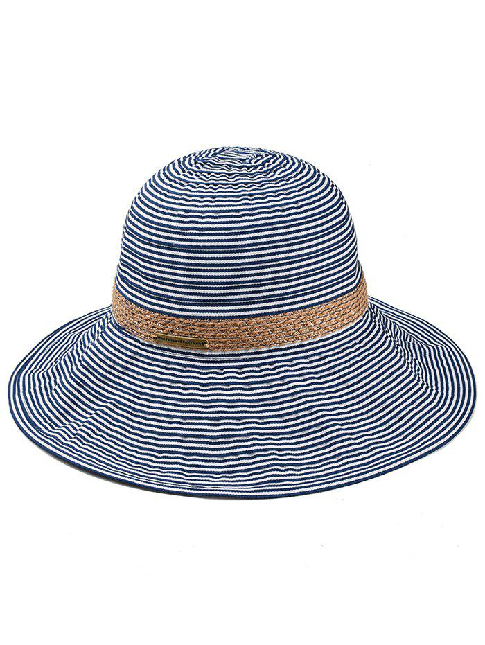 Outfits Thin Strip Straw Braid Decorated Sun Hat