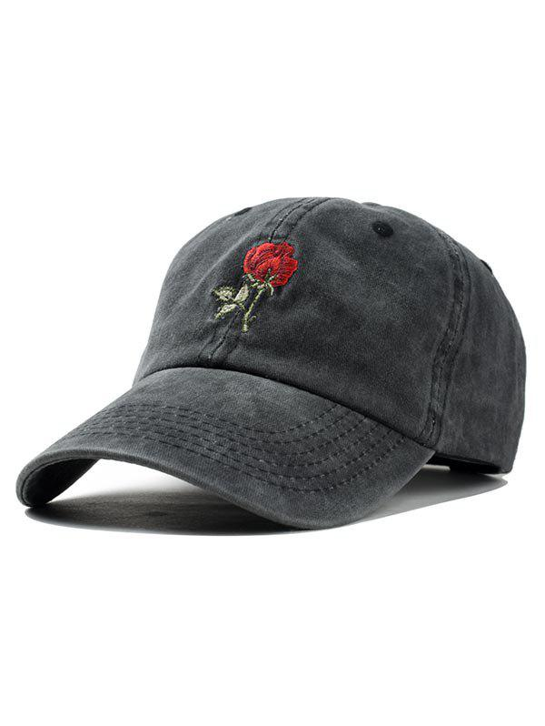 Fashion Rose Embroidered Baseball Cap
