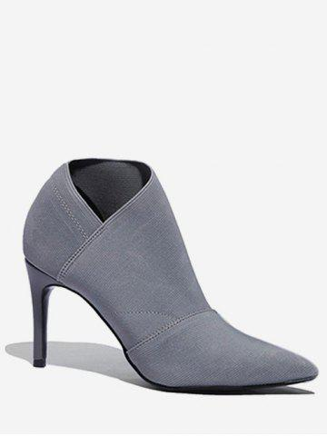 Pointed Toe Sock Ankle Boots