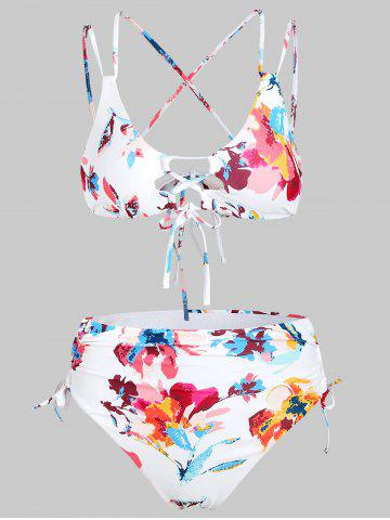 Floral Print Tie Up Bikini Set