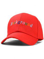 Colorful Embroidered Kids Baseball Cap -