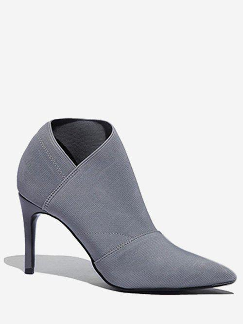 Outfit Pointed Toe Sock Ankle Boots