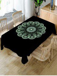 Flower Pattern Fabric Waterproof Tablecloth -