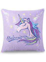 1PC Sequins Reversible Unicorn Pillow Case -