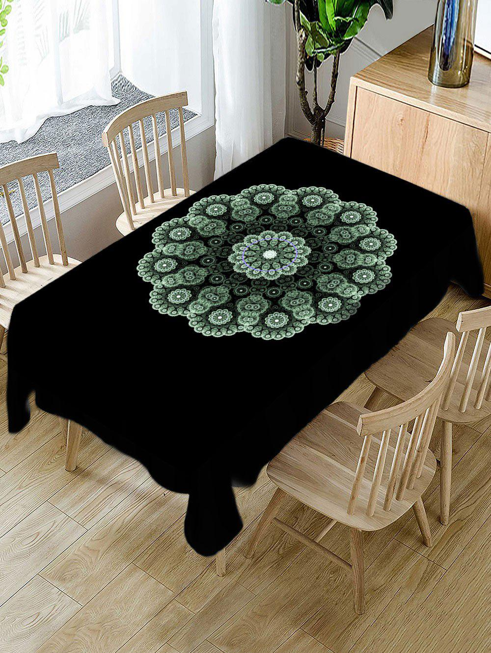 Cheap Flower Pattern Fabric Waterproof Tablecloth