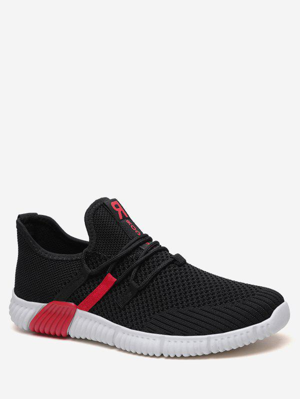 Unique Tie Up Knit Mesh Running Sneakers