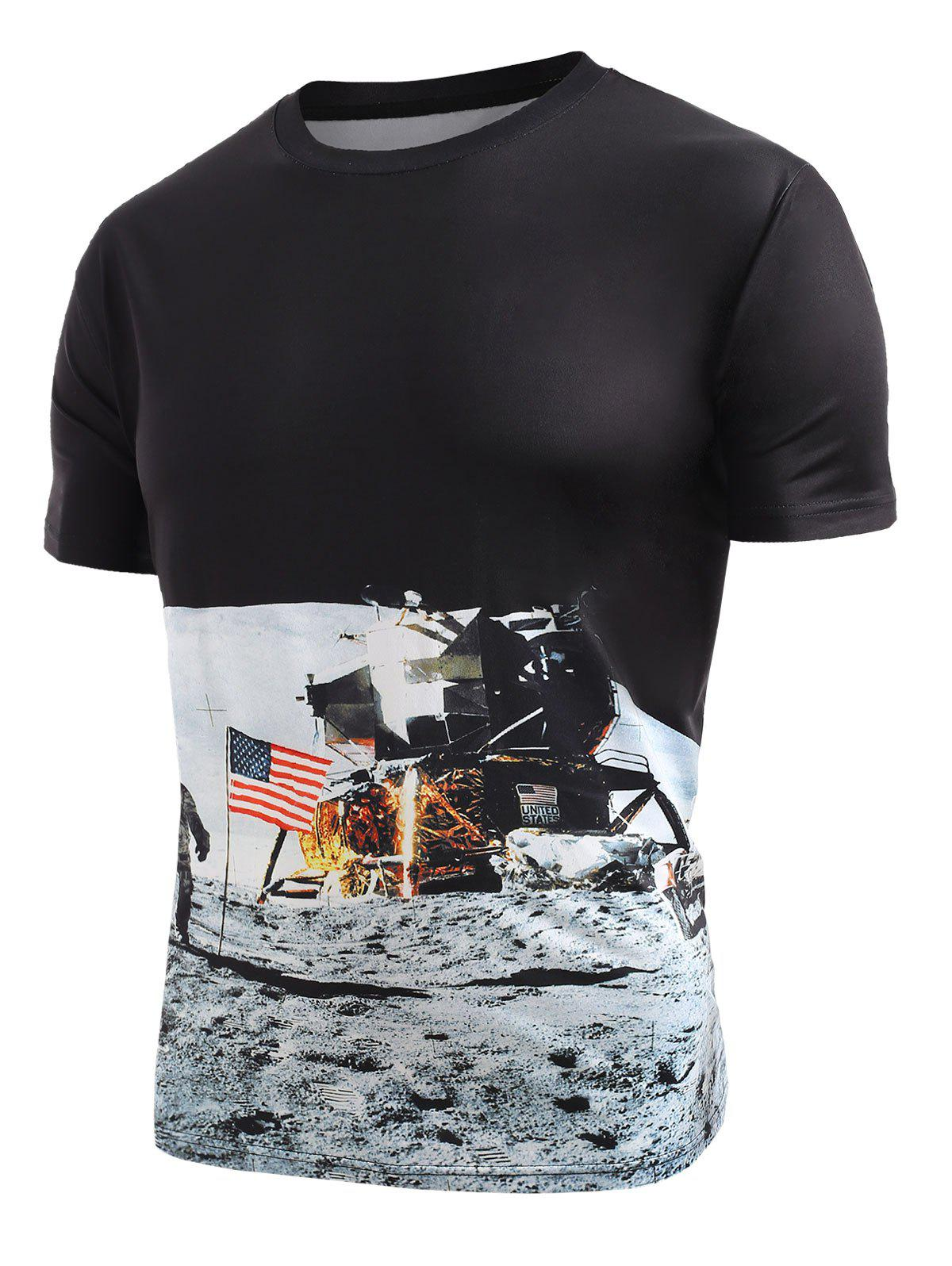 Best Astronaut American Flag Pattern T-shirt