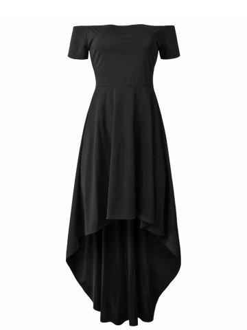 Off Shoulder Asymmetric Long Dress