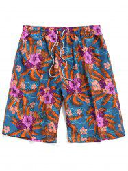 Floral Pattern Casual Board Shorts -