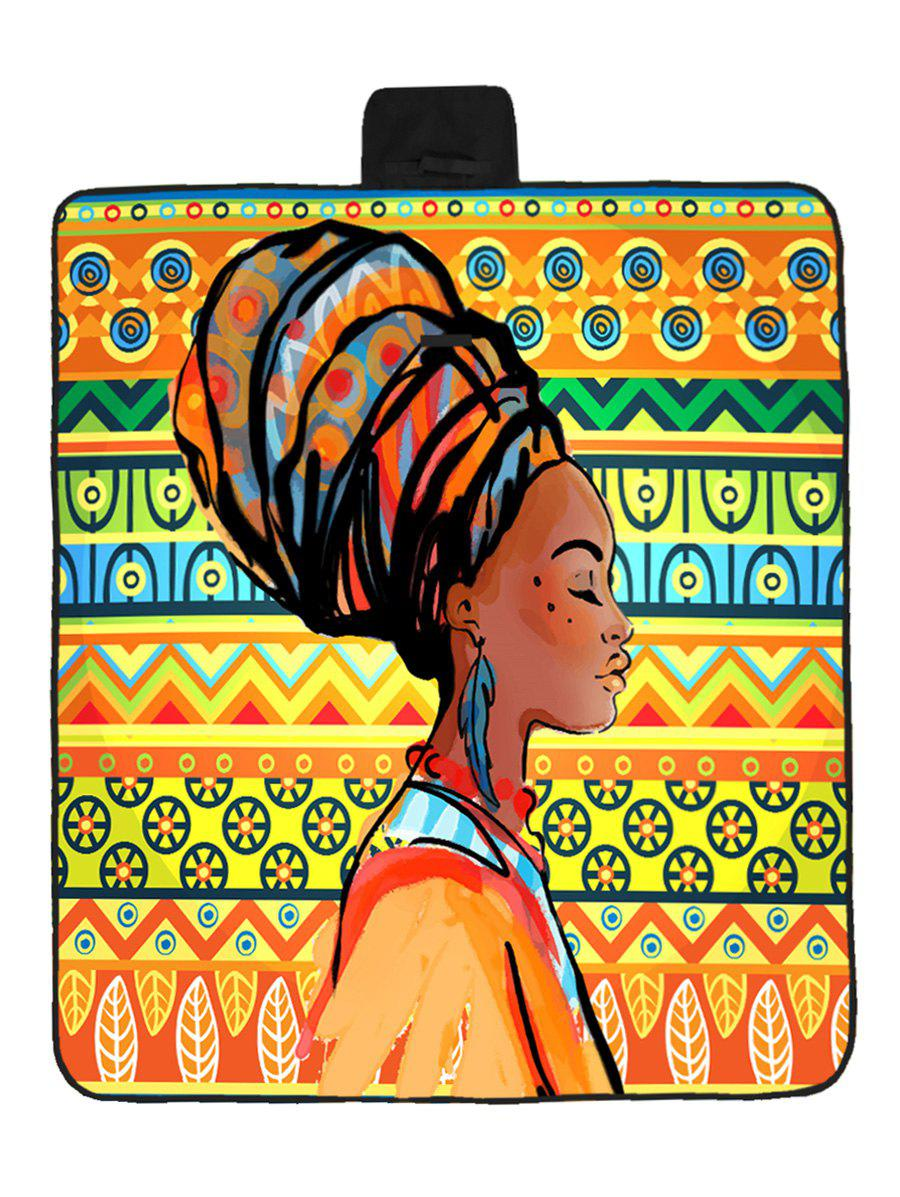 African Women Print Waterproof Picnic Blanket