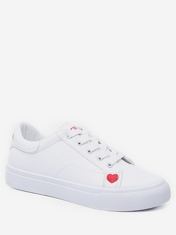 Outfit Heart Pattern Lace-up Sport Shoes