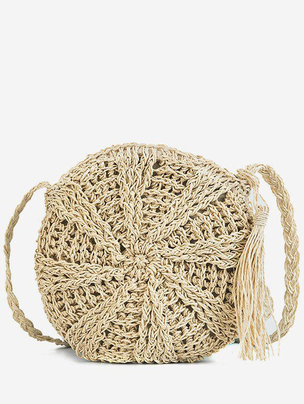 Latest Round Shape Straw Woven Crossbody Bag