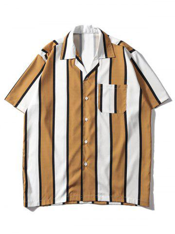 Striped Printed Button Up Casual Shirt