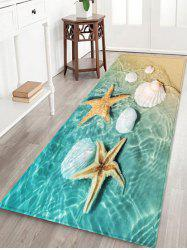 Beach Starfish Conch Pattern Print Floor Mat -