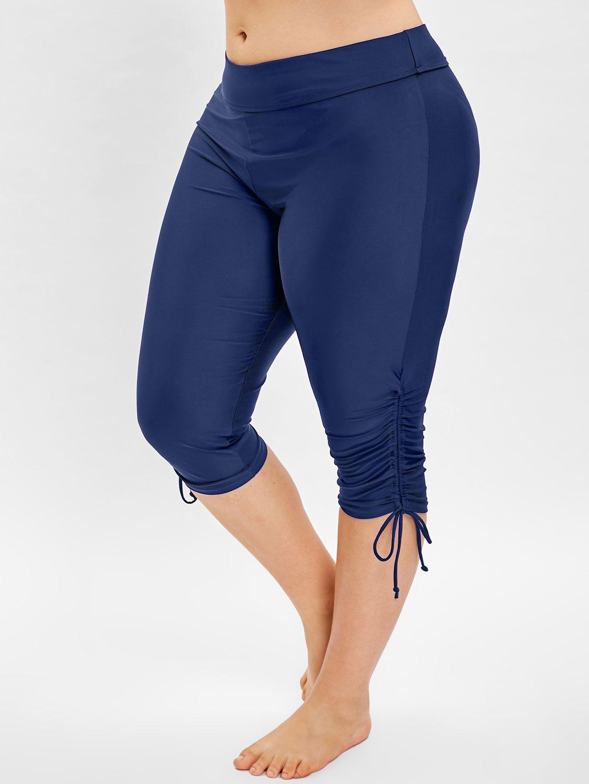 Best Side Drawstring Plus Size Knee Length Swim Pants